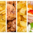 Delicious Food Collage — Stockfoto