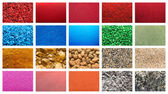Materials Collection Collage — Stock Photo