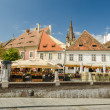 The Small Square In Sibiu — Stock Photo