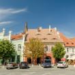The Small Square In Sibiu — Stock Photo