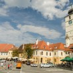 The Small Square Of Sibiu — Stock Photo