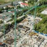 skyskrapa foundation byggarbetsplats — Stockfoto