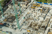 Skyscraper Foundation Construction Site — Stock Photo