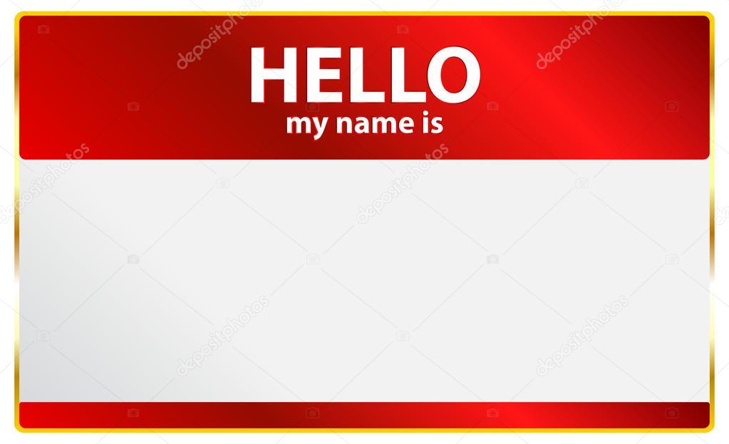 Hello My Name Is Card — Stock Vector © radub85 #31829687