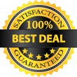 Best Deal Satisfaction Guaranteed Badge — Stock Vector