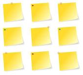 Sticky Notes Set — Stock Vector