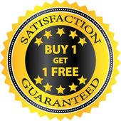 Compro uno ottenere uno al minuto libero shopping distintivo — Vettoriale Stock