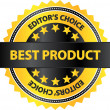 Editors Choice Best Product Of The Year Badge — Stock Vector