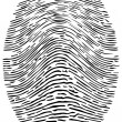 Detailed Forensic Fingerprint — Stock Vector