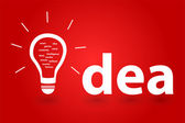 Bright Successful Idea Of An Intelligent Person — Stock Vector