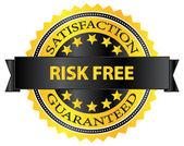 Risk Free Satisfaction Guaranteed Badge — Stock Vector