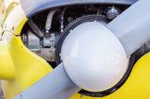 Hélice frontal de avião — Foto Stock