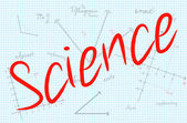 Science Word With Mathematics Background — 图库矢量图片
