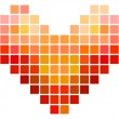 Mosaic Square Heart — Stock Vector