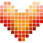 Mosaic Square Heart — Stock Vector