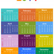 2014 Seasonal Calendar — Vector de stock #34401417