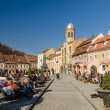 Brasov Council Square Historical Center — Stock Photo