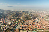 Aerial View Of Brasov City In The Carpathian Mountains — Stock Photo