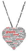 Word Cloud Shopkonzept Juwel — Stockvektor