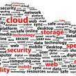 In Cloud Online Data Storage Security Word Concept — 图库矢量图片