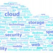 In Cloud Online Data Storage Security Word Concept — Imagen vectorial