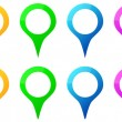 Stock Vector: Colored Map Pins Icons For Gps Map Location