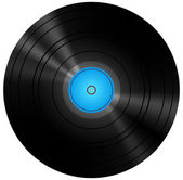 Retro azul disco vinilo — Vector de stock
