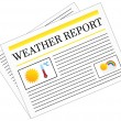 Weather Report Newspaper Headline Front Page — Stock Vector