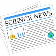 Science News Newspaper Headlines — Stok Vektör #35835297