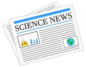 Science News Newspaper Headlines — Stock Vector
