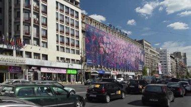 High Traffic Downtown Bucharest — Stock Video