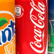 Stock Photo: Coca-Cola, Fantand Sprite Cans