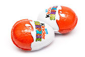 Kinder Surprise Chocolate Eggs — Stock Photo