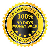30 Days Money Back Guaranteed Badge — Stock Vector