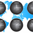 Stock Vector: Time Zones Around World