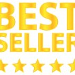 Stock Vector: Best Seller Five Stars Golden Award