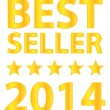 Stock Vector: Best Seller Five Stars Golden Award 2014