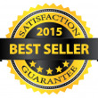 Best Seller Five Stars Golden Badge Award 2015 — Stock Vector #38376311