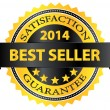 Stock Vector: Best Seller Five Stars Golden Badge Award 2014