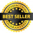 Stock Vector: Best Seller Five Stars Golden Badge Award