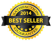 Best Seller Five Stars Golden Badge Award 2014 — Stock Vector