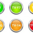 Stock Vector: Television Parental Guidelines Buttons