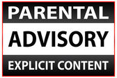 Parental Advisory Explicit Content Warning — Stock Vector