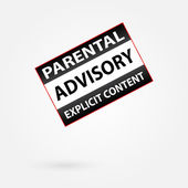 Parental Advisory Explicit Content Warning — Stock Vector