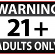Stock Vector: Warning Only Adults Parental Control Sticker