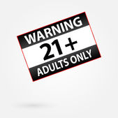 Warning Only Adults Parental Control Sticker — Vettoriale Stock