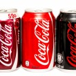 Stock Photo: Coca-ColBottle Cans