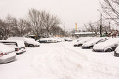Cars Coverd On Winter Snow — Stok fotoğraf