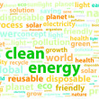 Clean Friendly Environment Energy Word Cloud Concept — Stock Vector #39846541