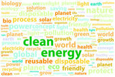 Clean Friendly Environment Energy Word Cloud Concept — Stock Vector
